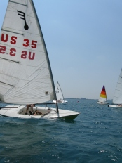 Small boats race on Lake Huron in Port Huron!