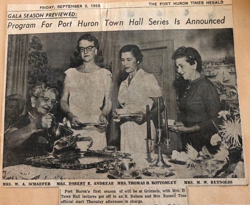 Town hall 1955 tea